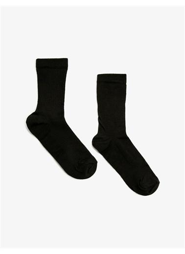 Koton Kadin 2'li Basic Çorap Seti Siyah